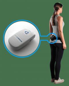 G-Sensor de G-WALK se place en bas du dos