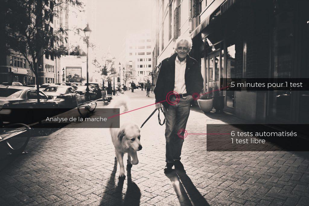 Analyse de la marche chez les personnées âgées
